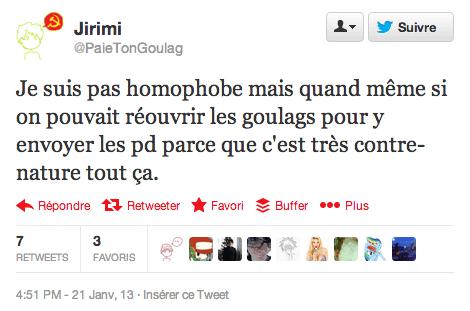 Je ne suis pas homophobe mais