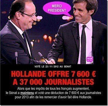 Hollande remercie les journalistes