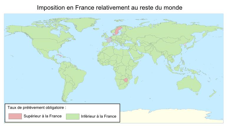 Imposition en France relativement au reste du Monde