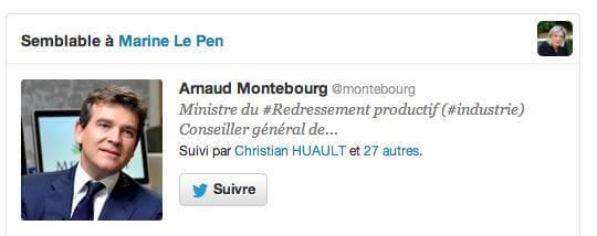 Semblable à Marine Le Pen