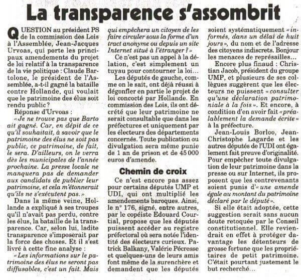 La transparence sombre