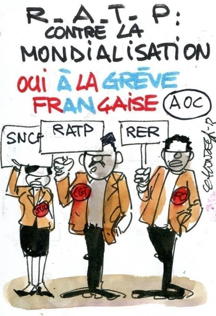 Oui à la grève française