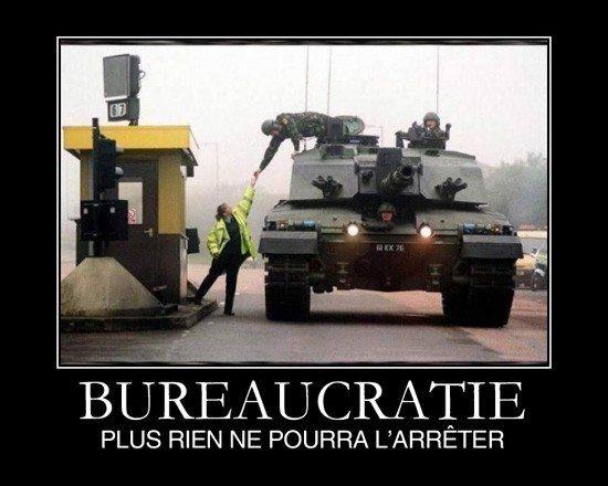 Ultra bureaucratie folle