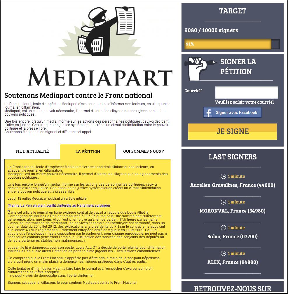 Mediapart contre le Front National