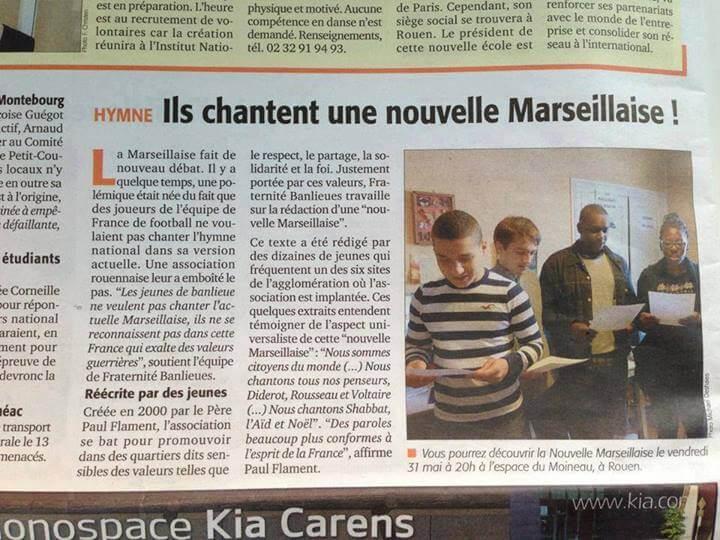 Ils chantent une nouvelle Marseillaise