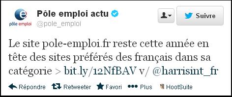 Pôle-emploi, site préféré des Français