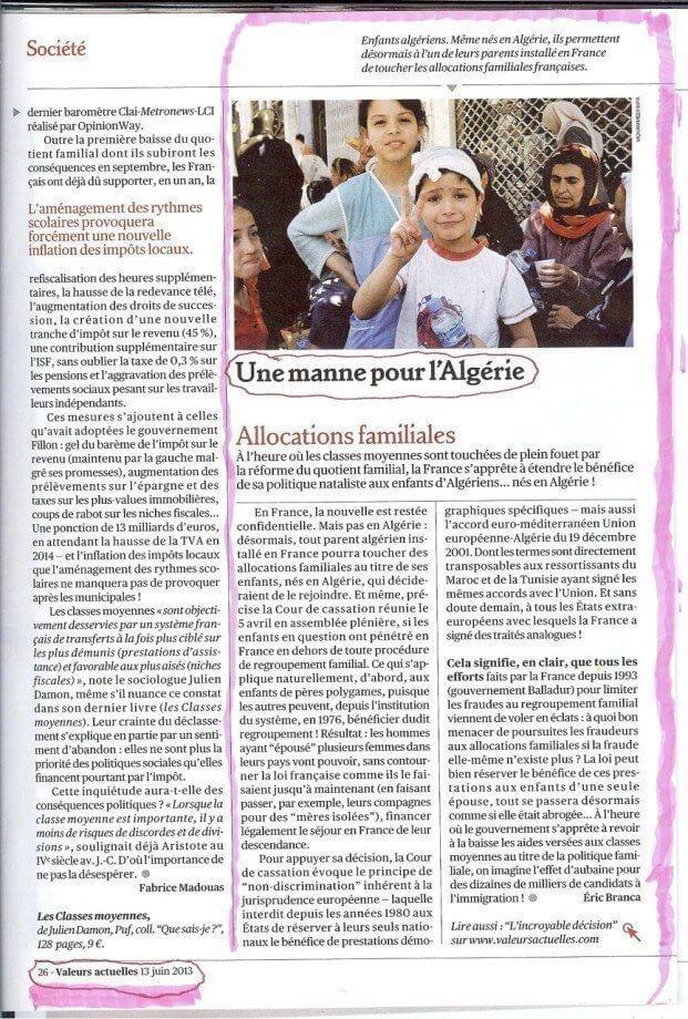 Allocations familiales : une manne pour l'Algérie