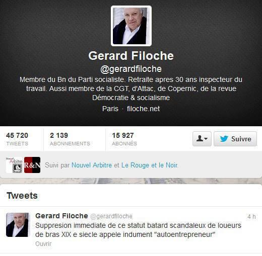 L'autoentrepreneur selon Gérard Filoche, un statut bâtard scandaleux de loueurs de bras XIXème siècle