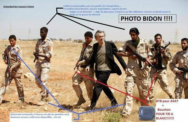 BHL : photo bidon