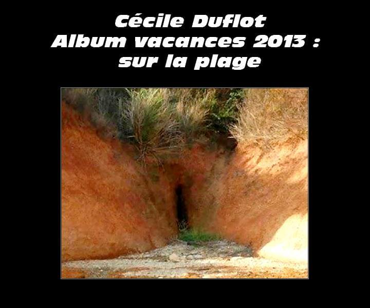 Cécit Duflot, album vacances 2013 : sur la plage