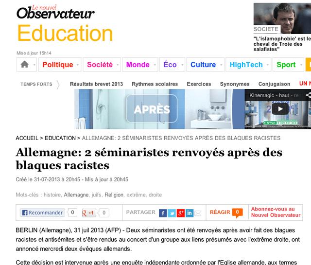 Des blaques racistes