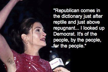Julia Roberts n'aime pas les Républicains