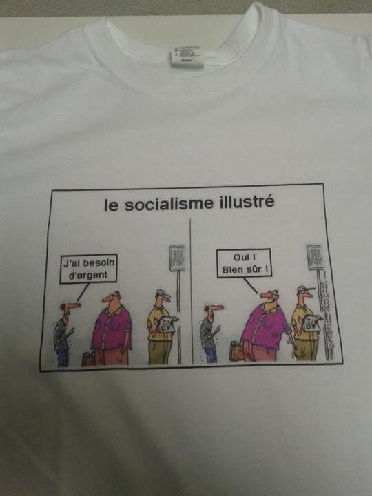 T-shirt socialiste