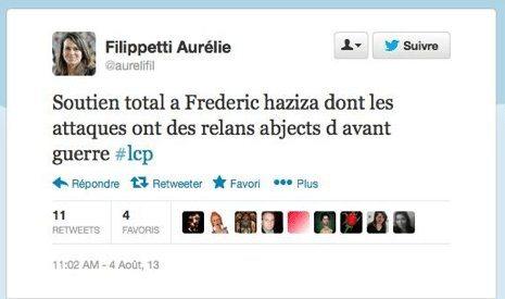 Total respect à Aurélie Filippetti
