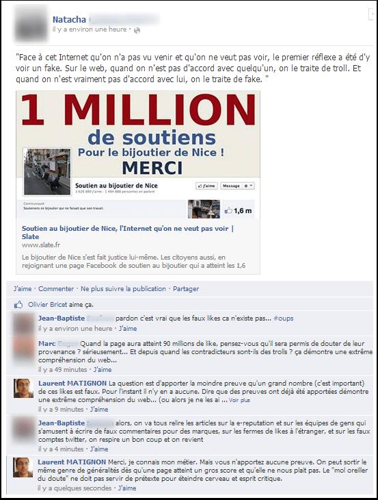Bijoutier de Nice : faux likes partout ?