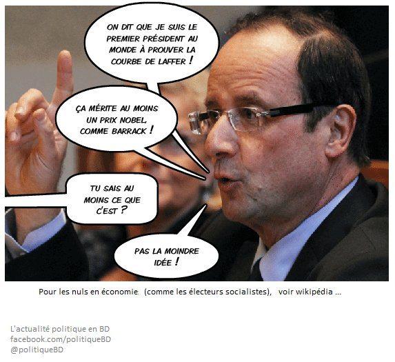 Hollande démontre la courbe de Laffer