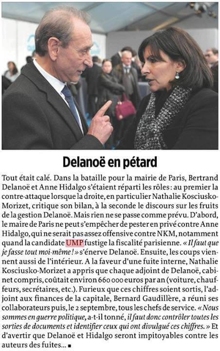 Delanoë : chaque adjoint coûte 660000 euros. Par an.