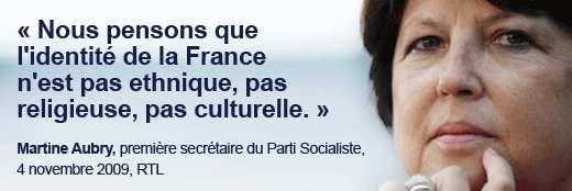 L'identité de la France vue par Martine Aubry