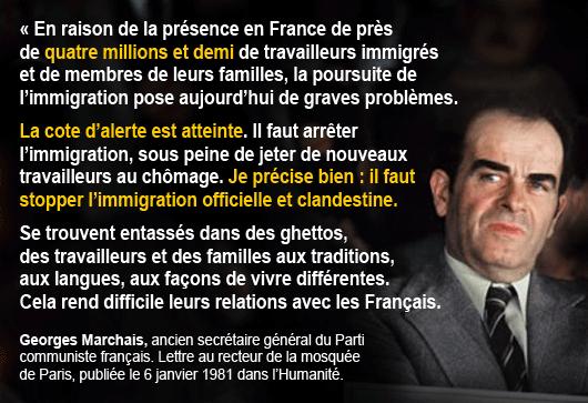 Georges Marchais et l'immigration