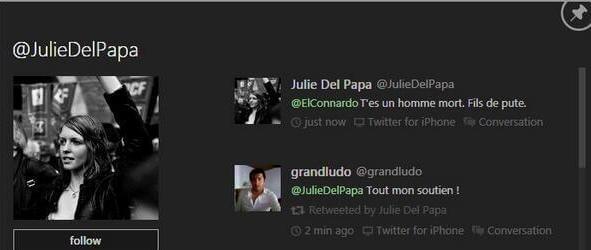 Julie Del Papa dit non à la violence