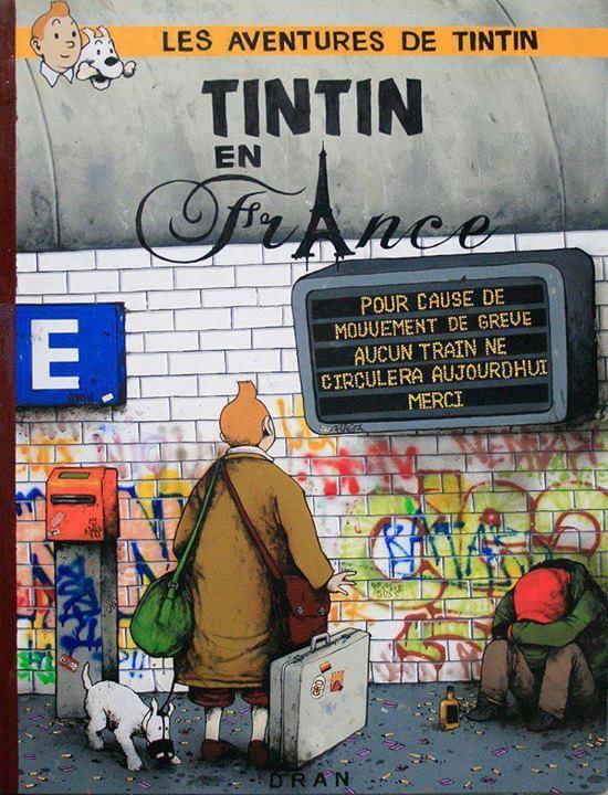 Les aventures de Tintin en France