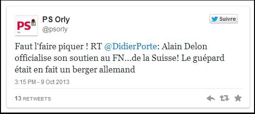 Alain Delon soutient le FN