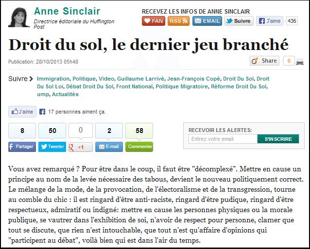 Anne Sinclair est décomplexée