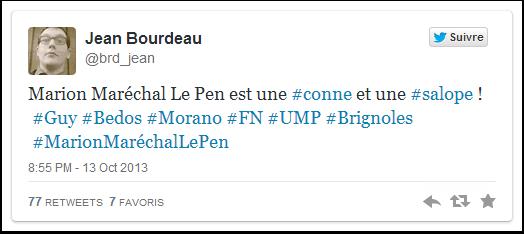Marion Maréchal Le Pen vu par Jean Bourdeau