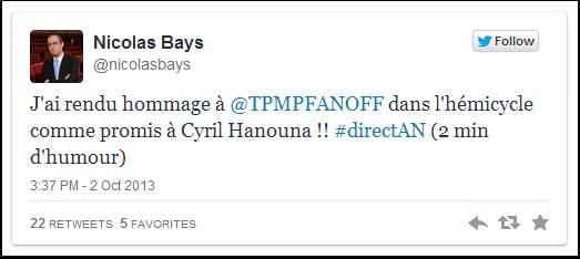 Comme promis à Cyril Hanouna