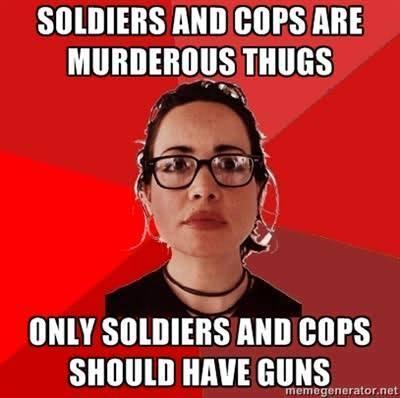 Seuls les militaires et les flics méritent d'être armés