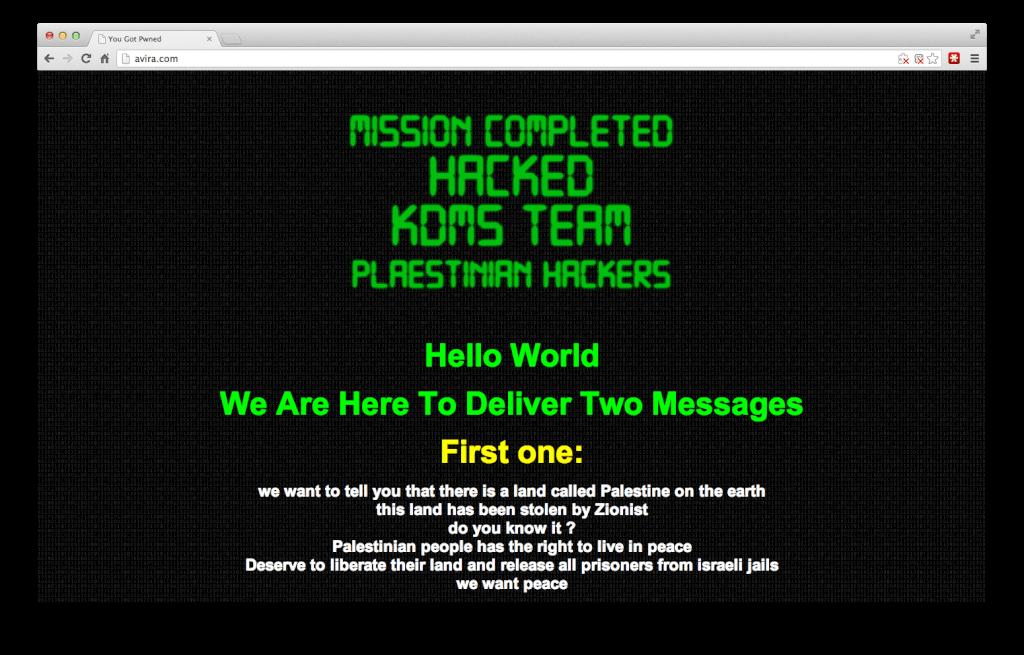 Palestinian hackers