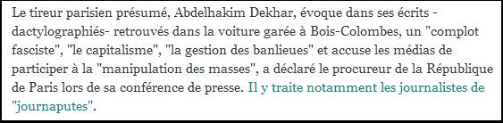 Bref, Abdelhakim Dekhar est d'extrême-gauche.