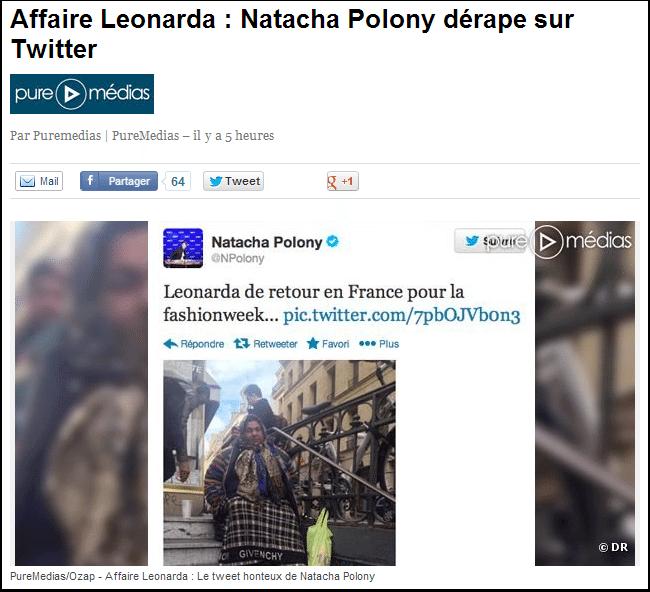 Natacha Polony dérape sur Leonarda
