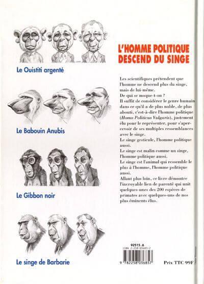 L'homme politique descend du singe