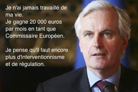 Michel Barnier pense qu'il faut encore plus d'interventionnisme et de régulation