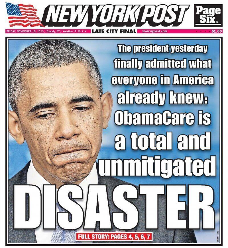 ObamaCare : le désastre