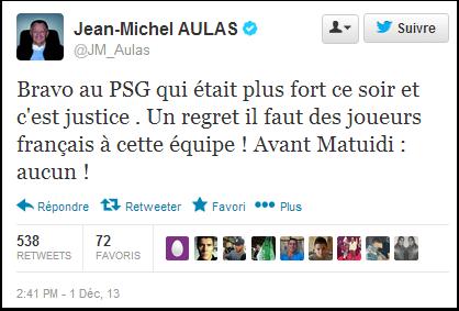 Jean-Michel Aulas n'aime pas les étrangers