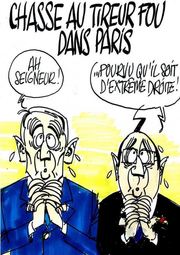 Chasse au tireur fou dans Paris