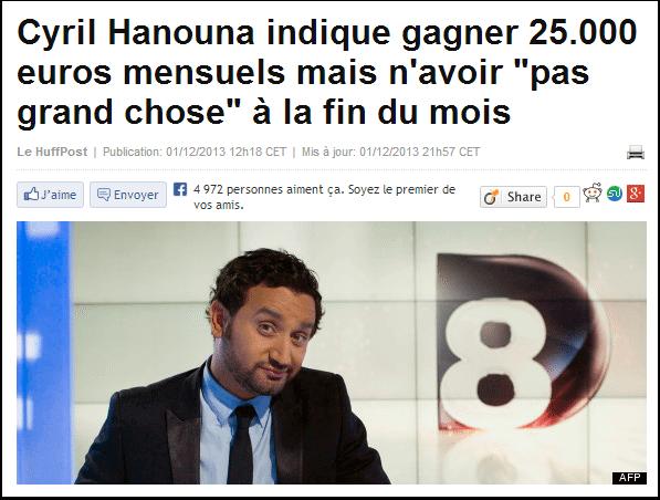 Cyril Hanouna est-il de gauche ?