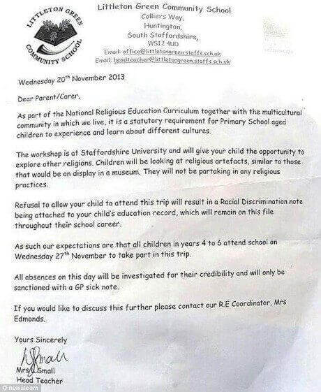 Une note de discrimination raciale dans le dossier scolaire de votre enfant