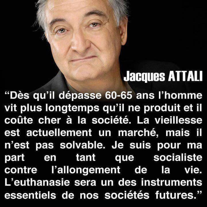 Jacques Attali, en tant que socialiste, est contre l'allongement de la vie