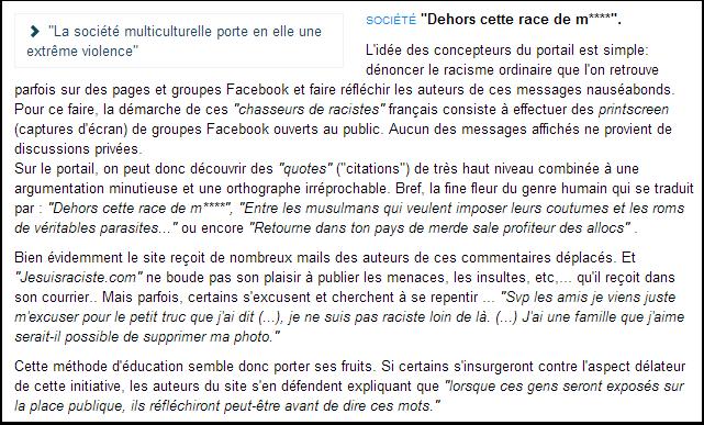 Chasseurs de racistes français