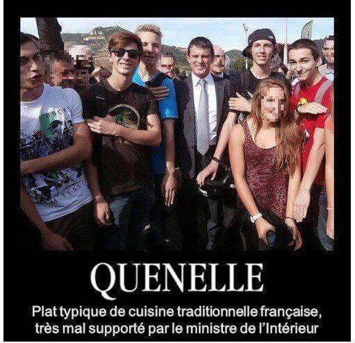 Valls n'aime pas la quenelle
