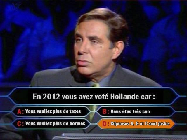 En 2012 vous avez voté Hollande car…
