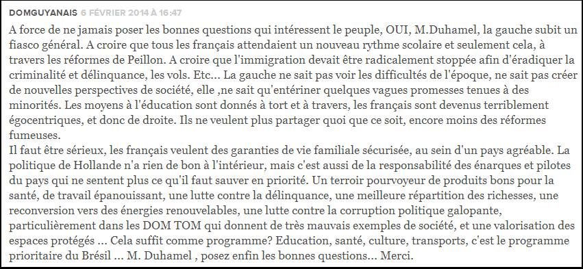 Les Français sont devenus terriblement égocentriques, et donc de droite