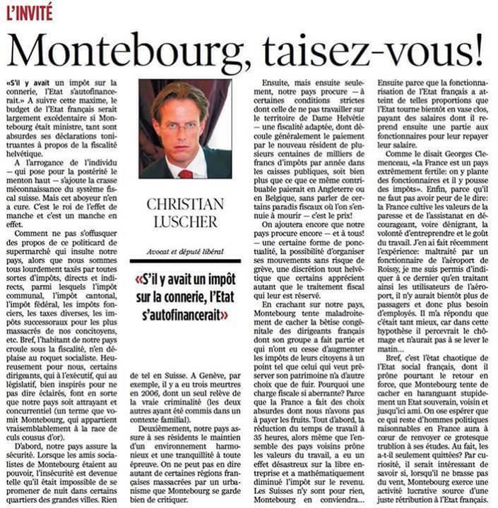 Montebourg, taisez-vous !
