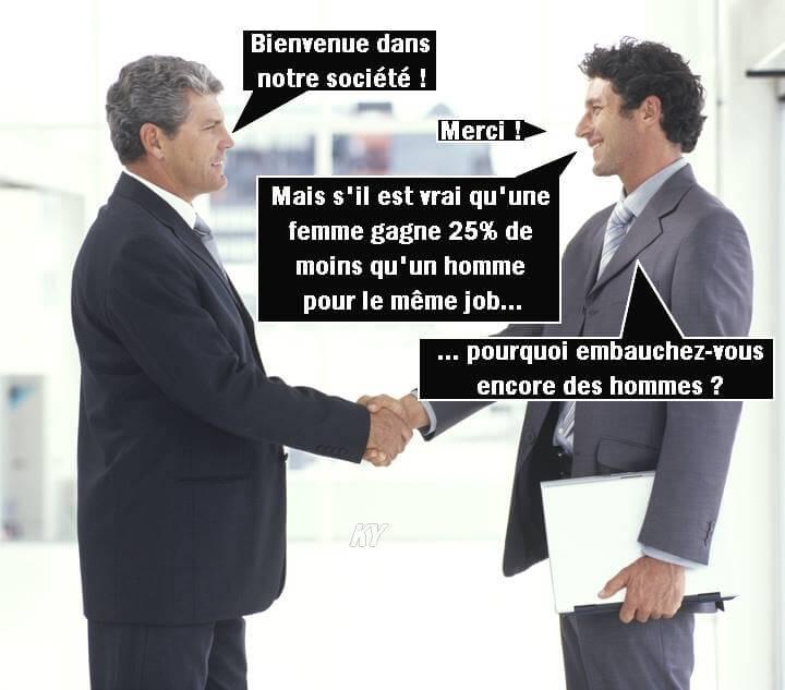 Pourquoi embauchez-vous encore des hommes ?