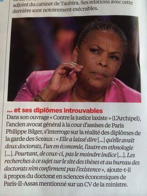 Christiane Taubira : Protocole Fantôme