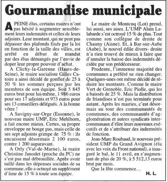 Gourmandise municipale