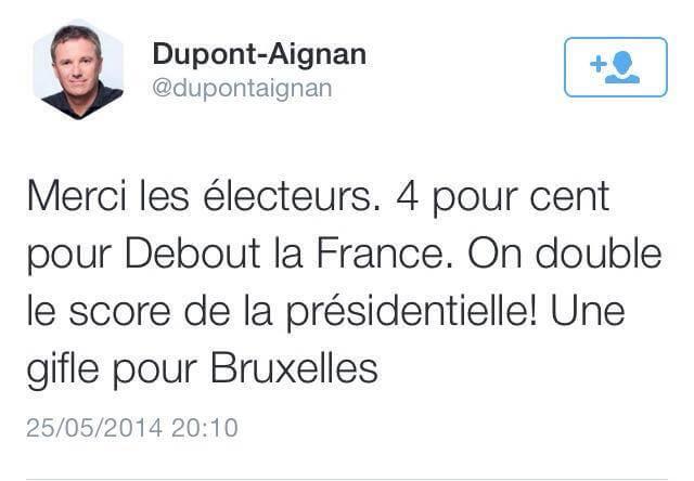 Une biffle pour Bruxelles